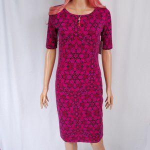 LuLaRoe - Julia Dress Paisley Bright Purple / Pink